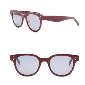 Céline 47mm Square Sunglasses burgundy/light blue